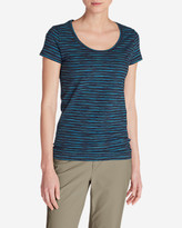 Eddie Bauer Women's Lookout T-Shirt - Space Dye Stripe