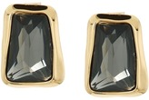 Robert Lee Morris Black Diamond & Gold Stone Stud Earrings