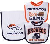 Baby Denver Broncos 3-Piece Bib & Burp Cloth Set