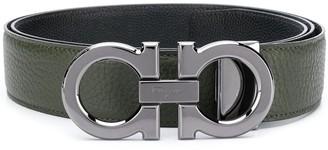 Salvatore Ferragamo Gancini buckle calfskin belt