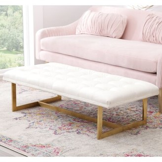 Mercer41 Southgate Faux Leather Metal Bench