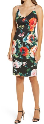 Black Halo Amorie Floral Print Sheath Dress
