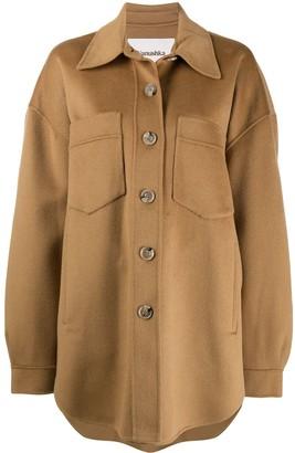 Nanushka Martin button down coat