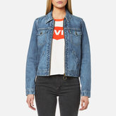 Levi's Women's Orange Tab Ot Zip Front Trucker Jacket