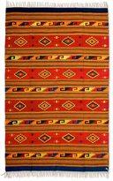 Novica Handcrafted Zapotec Wool 'Mitla Butterflies' Rug 6.5x10 (Mexico)