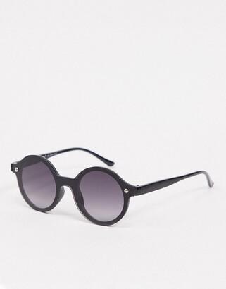 A. J. Morgan AJ Morgan round rimless sunglasses in black