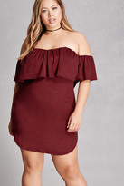 Forever 21 FOREVER 21+ Faux Suede Flounce Dress