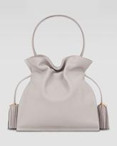 Loewe Flamenco 30 Drawstring Leather Bag, Stone