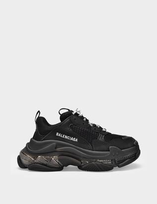 Balenciaga Triple S Clear Sole Sneakers in Black