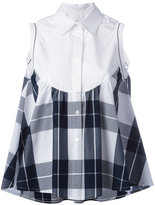 I'M Isola Marras checked ruffled shirt - women - Cotton/Polyester/Viscose - 44
