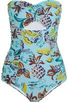 Anna Sui Cutout Printed Bandeau Swimsuit