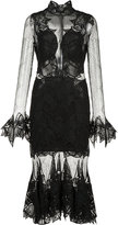 Jonathan Simkhai ruffled hem sheer dress - women - Silk/Nylon/Spandex/Elastane - 0