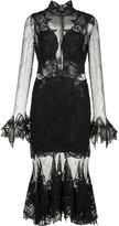 Jonathan Simkhai ruffled hem sheer dress - women - Silk/Nylon/Spandex/Elastane - 2