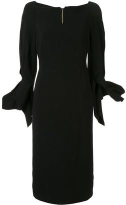 Roland Mouret Rosslare ruffled-cuff dress