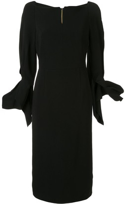 Roland Mouret Rosslare ruffled-cuff dress