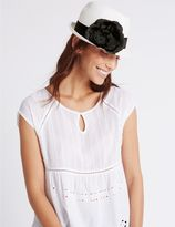 Marks and Spencer Corsage Trilby Hat