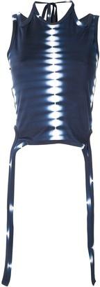 Dion Lee Shibori tie-dye halter top