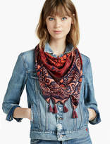Lucky Brand Patchwork Silk Square