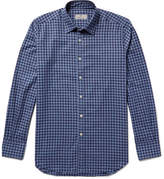 Canali Slim-Fit Buffalo Checked Cotton-Flannel Shirt