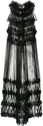 Comme des Garcons Ribbon Embellished Midi Dress