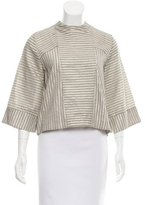 Suno Metallic Pinstripe Top