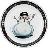 Golden Rabbit Snowman Large Tray
