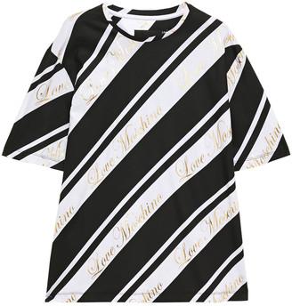 Love Moschino Metallic Printed Cotton-jersey T-shirt