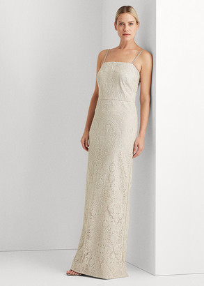 Ralph Lauren Metallic Column Gown