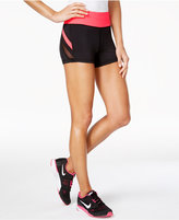 Material Girl Active Juniors' Mesh-Stripe Shorts, Created for Macy's