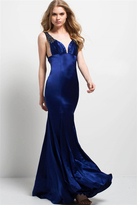 Jovani 50153 Embellished Strap Plunging Mermaid Gown