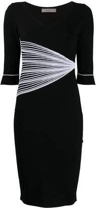 D-Exterior D.Exterior fan detail stretch knit dress