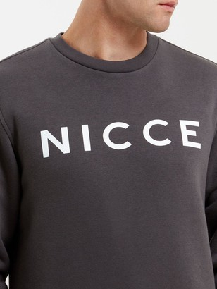 Nicce Original Logo Sweat - Coal