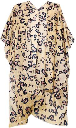 JC Sunny Women's Kimono Cardigans Yellow - Yellow Leopard Kimono - Women