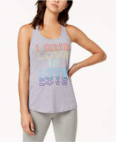 Hybrid Juniors' Love Is Love Graphic-Print Tank Top