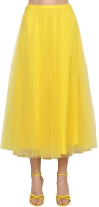 Ralph Lauren Collection Tulle Multi Layered Midi Skirt