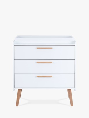 Silver Cross Brighton 3 Drawer Dresser Changing Table, White/Natural