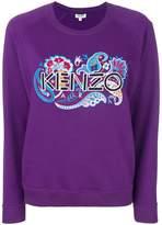 Kenzo paisley logo embroidered sweatshirt