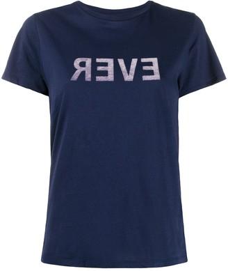 Bellerose slogan print crew neck T-shirt