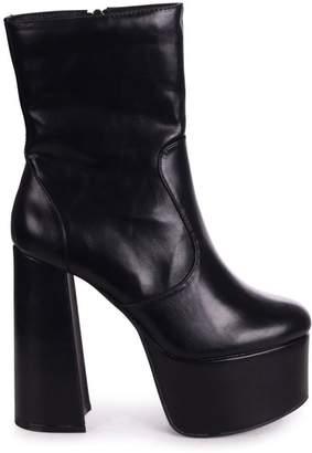 Linzi SACRIFICE - Black Nappa Extreme Platform Round Toe Boot