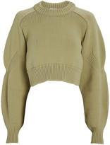 Tibi Cropped Open Back Sweater