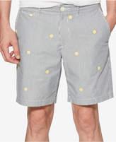 "Original Penguin Men's Slim-Fit Embroidered Yarn-Dyed Stripe 8"" Shorts"