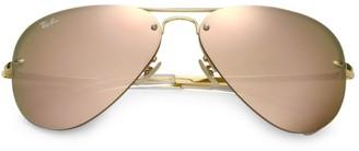 Ray-Ban RB3449 59MM Mirrored Semi-Rimless Aviator Sunglasses