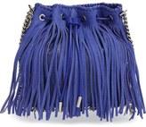 Stella McCartney Faux Suede Fringe Bucket Bag