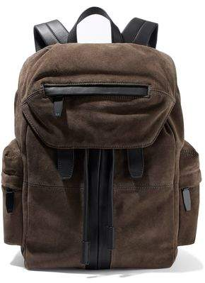 Alexander Wang Marti Leather-Trimmed Suede Backpack