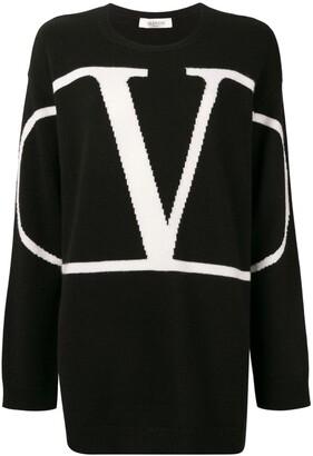 Valentino VLOGO cashmere oversized sweater
