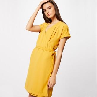 Morgan Short-Sleeved Wrapover Dress