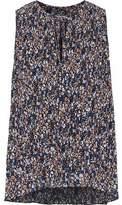 Derek Lam 10 Crosby Floral-Print Plissé-Chiffon Top