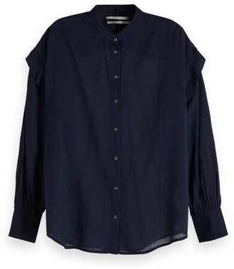 Scotch & Soda Navy Lightweight Shirt - xsmall - Blue