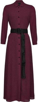 Pinko Polka Dot-Print Belted Dress