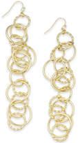 Thalia Sodi Gold-Tone Interlocking Ring Linear Drop Earrings, Created for Macy's